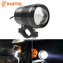 Partol 1pc U2 30W Universal Motocycle LED Headlight Hi-lo Beam Flashing Led Driving Light Spot Fog Lamp For Yamaha Suzuki Honda(China)