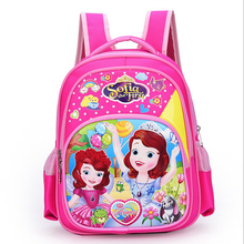 New Cartoon Sofia the First Pattern Backpack Children Kid School Bag Girls Bags Nylon Backpacks Kids
