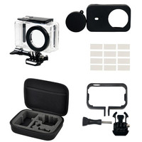 Waterproof Case For Xiaomi Mijia 4K Mini Camera Accessories Tempered Film Frame Cover Silicone Shell Lens