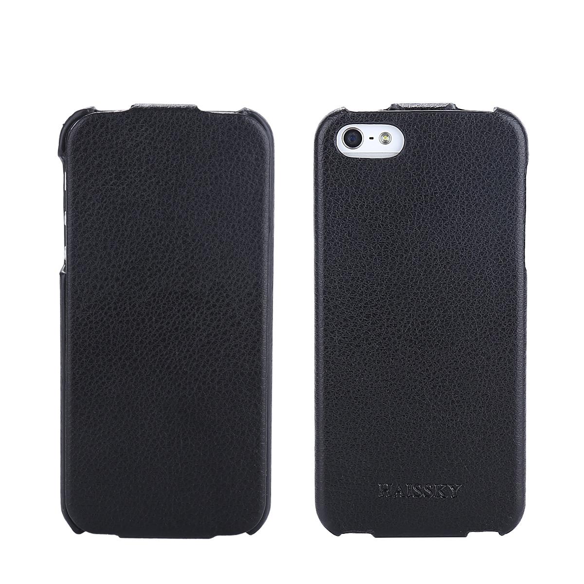 Haissky diseñado para el iphone SE 5 5S caso Fundas cuero de lujo ultrafino cubi