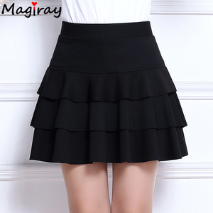 Image 3 - Magiray בתוספת גודל גבוהה מותן מיני חצאית 3 שכבות לפרוע חצאיות נשים קיץ 2020 מרופד קצר Saia קו נשי חצאית C445