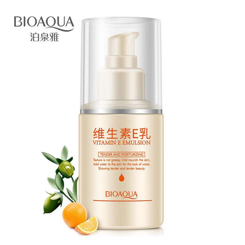 BIOAQUA Face Care Vitamin E Emulsion Face Cream Moisturizing Anti-Aging Anti Wrinkle Day or Night Face Cream