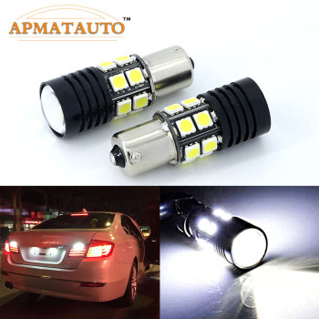 Pair Q5 Chips BA15S P21W 6000k White Canbus Car LED Rear Reversing Tail Light Bulb For BMW 5 Series E34 E39 E60 image