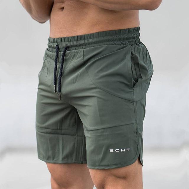 2018 Novos Homens Calções Musculação Academias de fitness Solto Corredores  Quick-seco e Fresco do 1505af65f375a