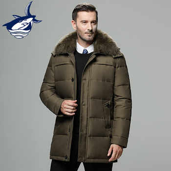 Brand men's winter jacket Russia long coat hat fur collar thick windproof waterproof 90% white duck down jacket men -25 degree - DISCOUNT ITEM  47% OFF All Category