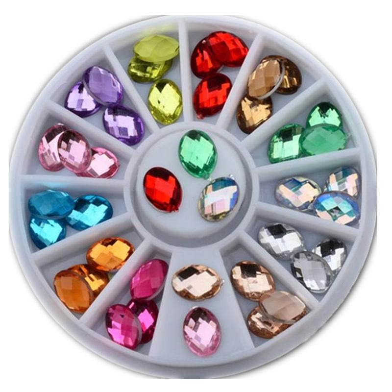 Glitter Nail Art Rhinestones Diseño 3D Mezcla de colores Gel - Arte de uñas