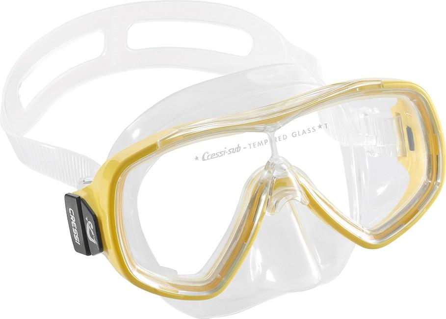 f09ecc344bcb Cressi ONDINA JR Diving Mask Tempered Glass Lens Boys and Girls Children  Child Snorkeling Swimming Mask