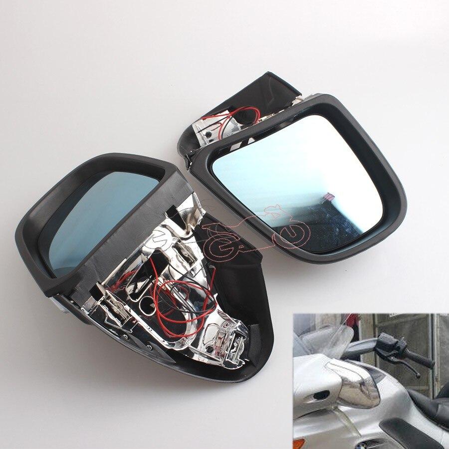 Pair Chrome Rearview Left/&Right Side Mirrors For BMW K1200LT 1999-2008 K1200 LT
