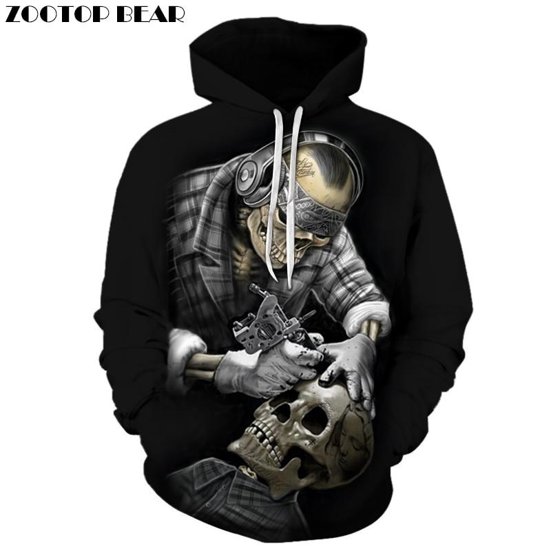 Funny Skull Hoodies 3D Hoodies Men Women Sweatshirts Unisex Tracksuits Fashion Casual Streetwear Hooded Brand Pullover