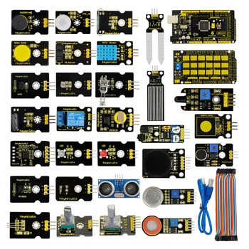Free shipping!New Sensor Starter Kit(Mega 2560+Shield V1) For Arduino  Project W/Gift Box+Sensors(30pcs)+PDF(online) free shipping the freescale pressuer sensors mpxv10gc6t1 100