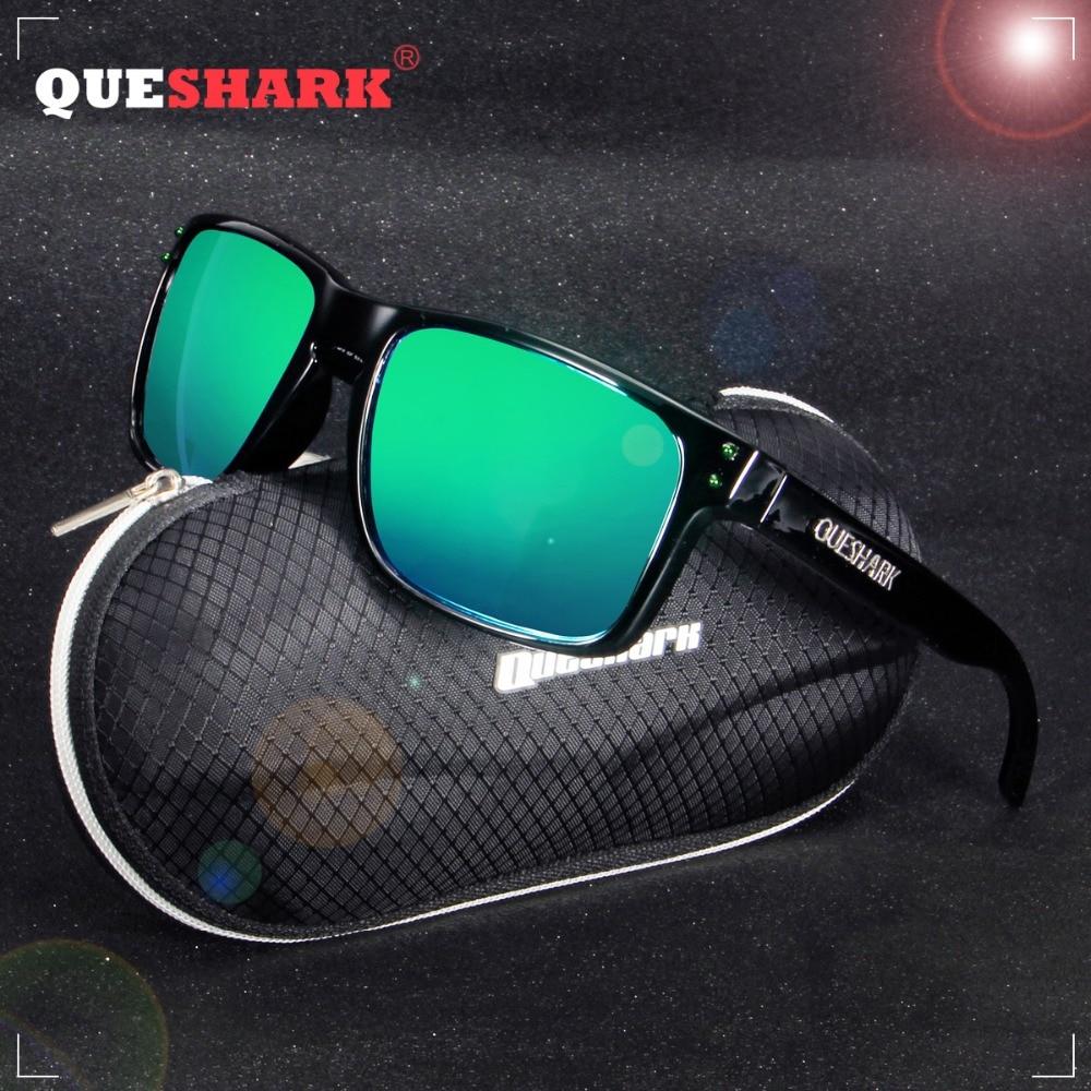 QUESHARK TR90 Frame Square HD Polarized Sunglasses Fishing Eyewear Cycling Glasses For Men Women Sport Hiking Running Golf