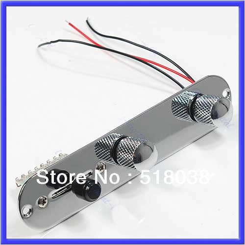 1PC Chrome Tele Prewired Control Plate 3 Way Switch For Guitar Hot Sell chrome plated wired control plate for jazz basstotal approx 152 54 mm l
