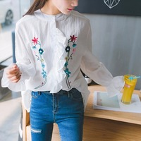 Fahion Women Fake Two Pieces Off Shoulder Patchwork Blouse Shirt Female Blouse Loose Comfortable Blouse
