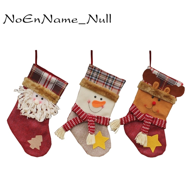 New Year Decor Christmas Decorations For Home 2018 Santa Claus Sock Tree Cheap