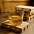 Rectangle Mini Wooden Pallet Coaster Set Whiskey Wine Glass Cup Mat Pad Hot Cold Drink Wood Table Mat Bar Tool 1pcs/set GB0107