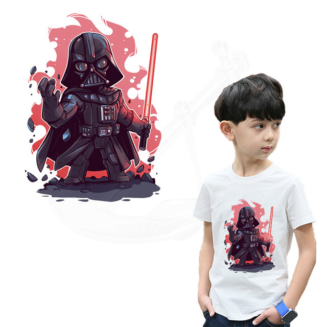 Cartoon Darth Vader patches for clothing 27*19.5cm DIY child T-shirt hoodie clothing girl patches termoadhesivos transfer