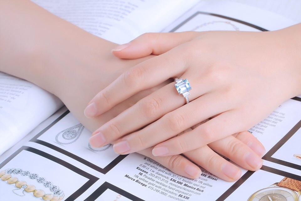 HTB1pGyvXO6guuRjy1Xdq6yAwpXaH UMCHO Blue Topaz Gemstone Rings for Women Genuine 925 Sterling Silver Aquamarine Ring Romantic Wedding Engagement Fine Jewelry
