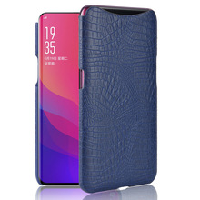 Mobile Phone Bags & Cases For OPPO Find X Skin Case Luxury Crocodile PU leather