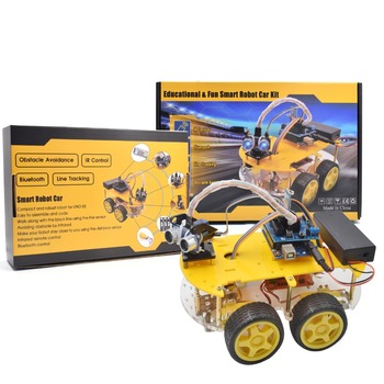 Smart Robot Car Kit include R3 board ,Ultrasonic Sensor, Bluetooth Module for starters with Tutorial