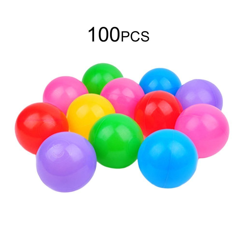 100pcs Toy Balls for the Pool Ocean Wave Soft Ball Pits Water Pool Balls Funny Baby Toys Outdoor Sports 5.5cm Stress Ball