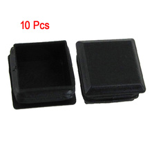 HGHO-10 pcs Black Plastic Square Tube Inserts End Blanking Cap 25mm x 25mm
