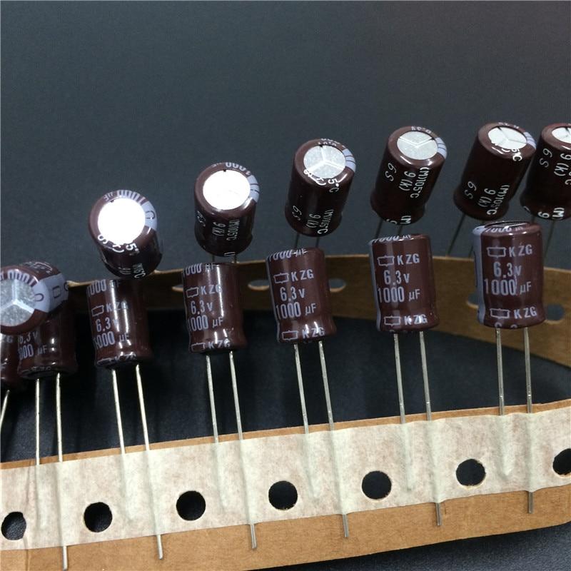 50 шт. 1000 мкФ 6,3 В NCC KZG 8x12 мм 6.3V1000uF супер низким ESR PC конденсатор материнской платы