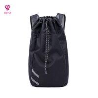 DrawString Pocket Waterproof Dirt Basketball Bag Item Storage Backpack Grid Cotton Shoulder Sling Bag
