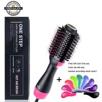 Big Stock! 1000W Professional Hair Dryer Brush 2 In 1 Hair Straightener Curler Comb Electric Blow Dryer Comb Hair Brush Roller