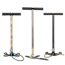 High Pressure Pump 3Stage 300bar 30mpa 4500psi Foldable Stainless Steel Hand Operated Air For Bicycles Motorcycles Cars