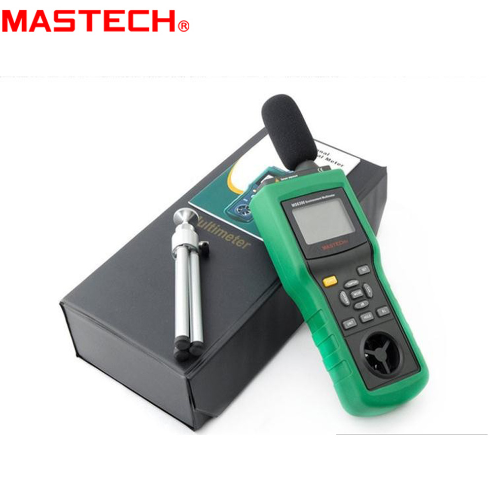 MASTECH MS6300 Digital Multifunction Environment Meter Temperature Humidity Sound Air Flow Meter luminometer Anemometer