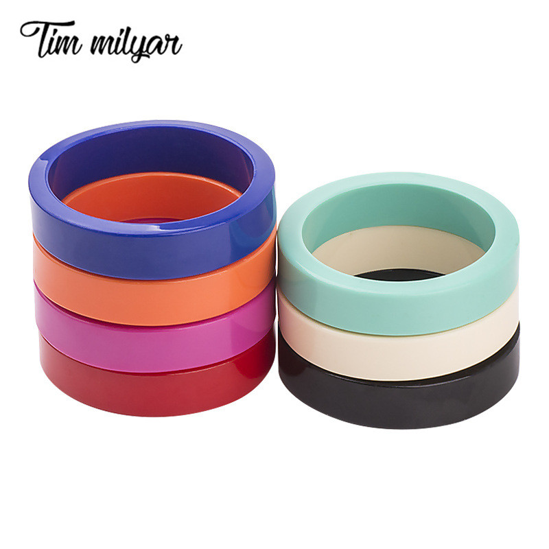 Tim Milyar Beach Resin Bangles High Quality Colorful Bracelets and Bangles Jewelry For Women Girlfriend Gift 7 Colors TMB201