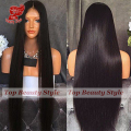 Silky Straight Synthetic Lace Front Wig with Baby Hair Black Long Straight Wig for Black Women No Shedding No Tanlged