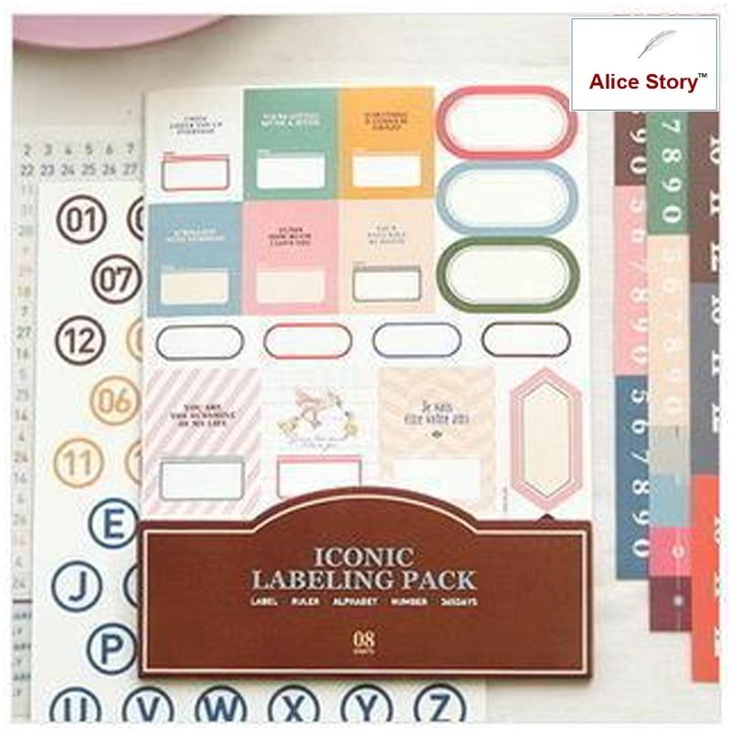 Emblématique assistante au bureau d'emballage d'étiquetage journal notebook planner autocollants voyage journal maison déco autocollants étiquette 11 pcs/pack