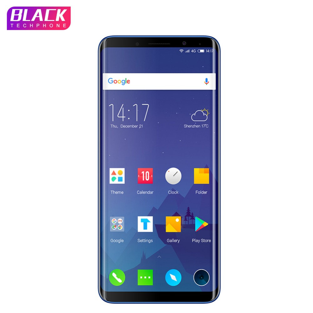 Elephone U Cell Phone Android 7.1 5.99 Inch FHD Screen Curved-Display Smartphone Quad-core 4+64GB Fingerprint Phone Telephone