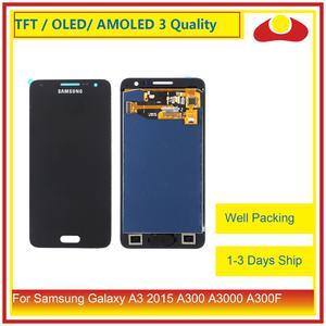 Image 1 - 10 adet/grup Samsung Galaxy A3 2015 A300 A3000 A300F A300M lcd ekran Ile dokunmatik ekran digitizer Paneli Pantalla Komple