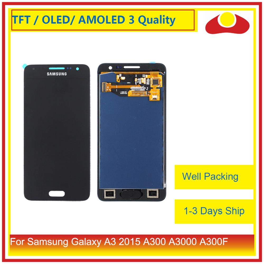 ORIGINAL For Samsung Galaxy A3 2015 A300 A3000 A300F A300M A3000 LCD Display With Touch Screen Digitizer Panel Pantalla Complete