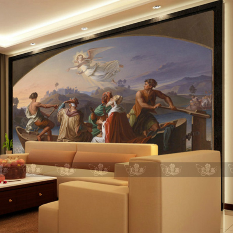 Mural 3D wallpaper sofa tv background wall 3d wallpapers painting fashion oil young Greek history living room bedroom vintage beautiful mahogany living room large mural wallpaper living room bedroom wallpaper painting tv background wall wallpaper
