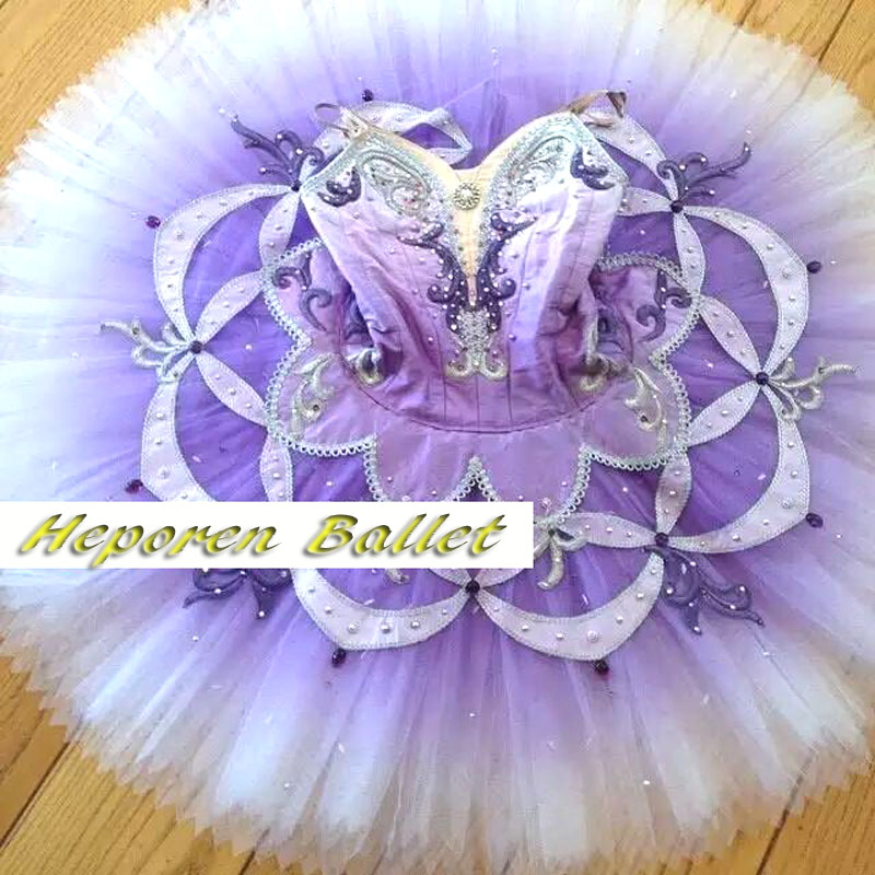 Custom Made Purple Ballet Tutu Dress/Professional Ballet Dancerwear Gradient Violet Ballet Hot Sale Costume For Halloween Party