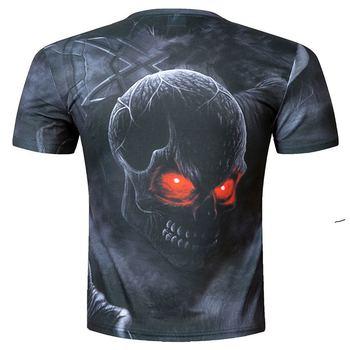 2018 t shirt men brand clothing summer skull 3d printing t-shirt male casual tshirt fashion mens short sleeve size M-5XL 1