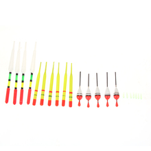 15Pcs Vertical Buoy Sea Fishing Floats Assorted Size for Most Type of Angling with Attachment Rubbers Fishing Lures