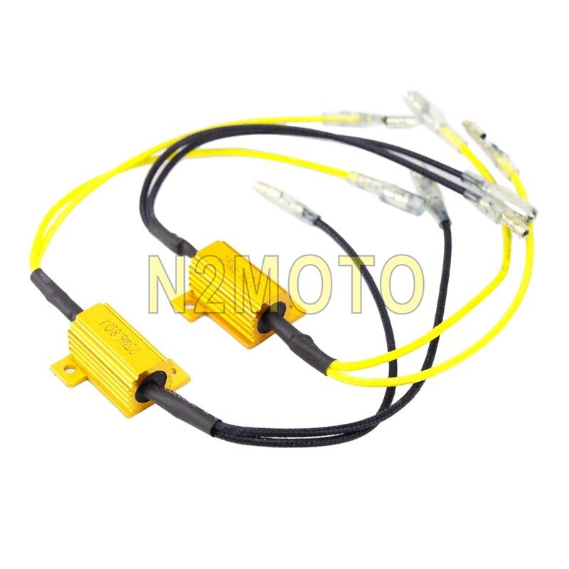 2 Pcs Motorbike LED Turn Signal Light Resistor 25 W 6.8 Ohms Motorcycle Flasher Resistance Indicator Flashing Rate Controllers