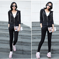 3 Pieces Set Spring Fall Casual Women Sportswear Women's Long-Sleeve Zipper Tracksuit Ladies Hoodies+Vest+Pants Jogging Suits