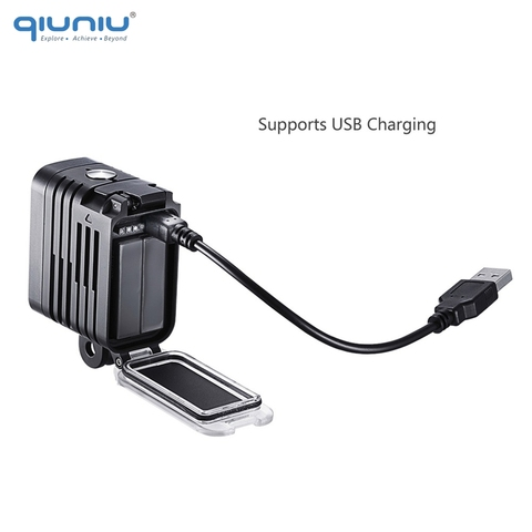 QIUNIU 50M Underwater Diving LED Light Waterproof Fill Light for GoPro Hero 8 7 6 5 4 for DJI Osmo Action for Canon DSLR Cameras Islamabad
