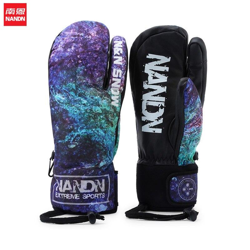 NANDN neige imperméable gants de Ski coupe-vent motoneige Snowboard gants neige Sport - 6