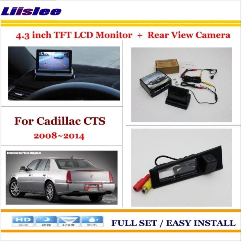 Для Cadillac CTS 2008 ~ 2013 2014 Автоматическая резервная камера заднего вида и 4,3