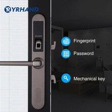 Водоустойчивый замок отпечатка пальца цифровой электронный замок двери, замок раздвижной двери в нержавеющей стали 304