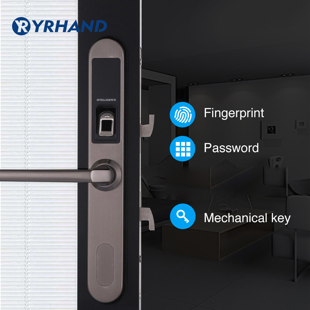 Waterproof Sliding Gate Fingerprint Lock Digital Electronic Door Lock, Sliding Door Lock In 304 Stainless Steel
