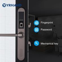 Водонепроницаемый раздвижные ворота отпечатков пальцев замок цифровой электронный дверной замок, раздвижные двери замок в 304 нержавеющая сталь