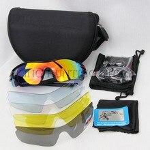 d9ea129dd5 Deporte Gafas de sol polarizadas Gafas de Sol para hombres y mujeres con 5  intercambiables Objetivos Ciclismo Correr Pesca esquí.