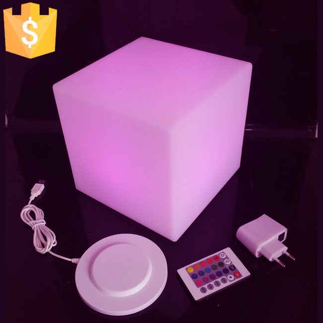 20cm LED outdoor Chair Cube square led lighting chair LED Night Light Cube Seat Free shipping 4pcs/Lot 20cm rgbw color waterproof illuminose square cube led bar decorative lighting cube lamps free shipping 1pc